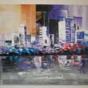 Si Öljymaalaus Kaupungin HÄmÄryys 100x120 Cm