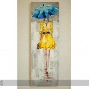 Si Öljymaalaus Lady Keltaisessa 120x40 Cm