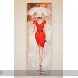 Si Öljymaalaus Lady Punaisessa 120x40 Cm