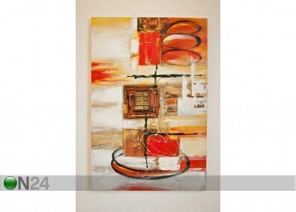Si Öljymaalaus Rauhattomuus 120x80 Cm