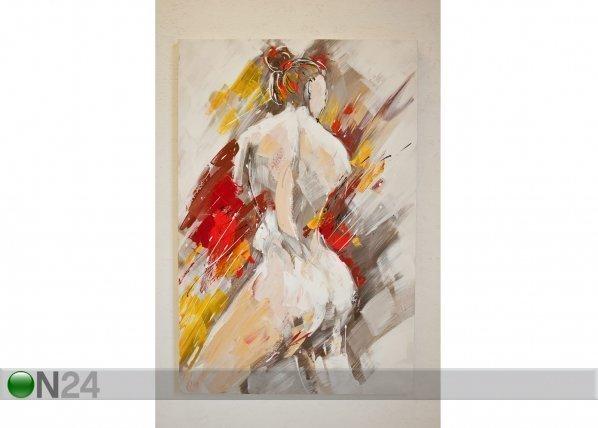 Si Ölymaalaus Muotokuva Naisesta 120x80 Cm