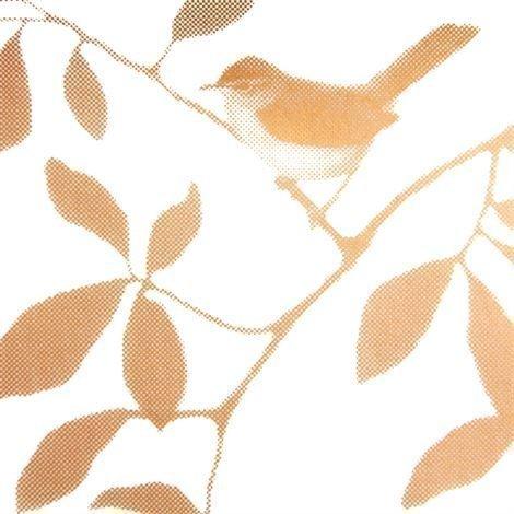 Siluett Frost Birds Ikkunakalvo Kupari 34x98 cm