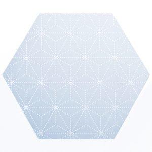 Siluett Frost Hexagon Laatta Ikkunakalvo