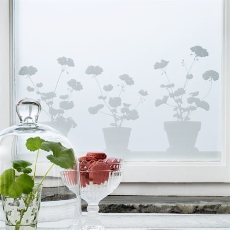 Siluett Frost Pelargon Ikkunakalvo 48x120 cm