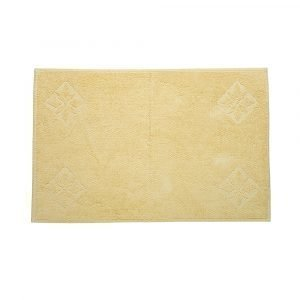 Simply Scandinavian Gotland Star Kylpyhuoneenmatto Lemon Cream 60x90 Cm