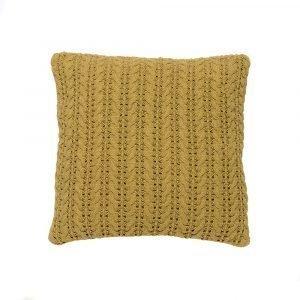 Simply Scandinavian Lace Tyyny Golden Green 50x50 Cm