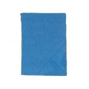 Simply Scandinavian Solid Star Knit Huopa Rockefeller Blue 130x180 Cm