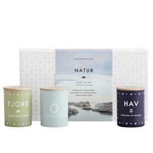 Skandinavisk Tuoksukynttiläsetti Natur Mini 3 Kpl