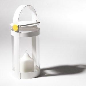 Smd Design Sirius Small Kynttilälyhty Valkoinen / Keltainen