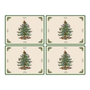 Spode Christmas Tree Pöytätabletti 40x29 Cm 4-Pakkaus