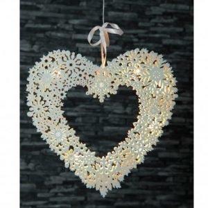 Star Trading Ikkunakoriste Snowflake Heart