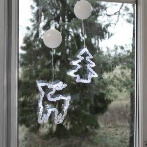 Star Trading Ikkunan Joulukoriste Poro+Kuusi