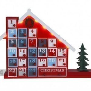 Star Trading Joulukalenteritalo Led Valoilla