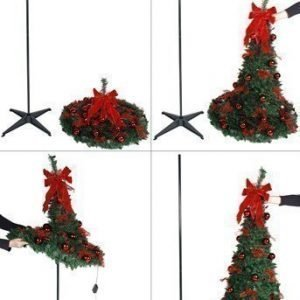 Star Trading Joulukuusi Dra-upp-gran Punainen
