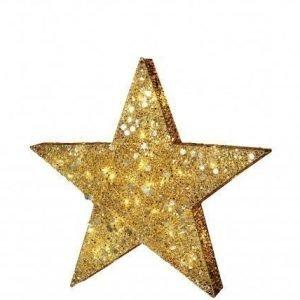 Star Trading Kullansävyinen TÄhti Led Valoilla