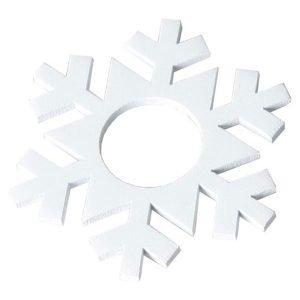 Star Trading Kynttilämansetti Lumihiutale Valkoinen 7-Pakkaus