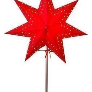 Star Trading Tähti ja jalusta Punainen