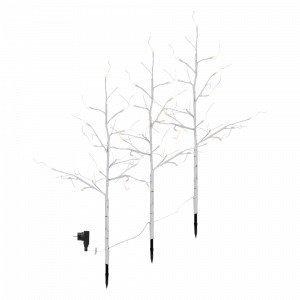 Star Trading Tobby Tree Björk 3p Led Koristepuu Valkoinen
