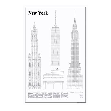 Studio Esinam Elevations Juliste 65x100 cm New York