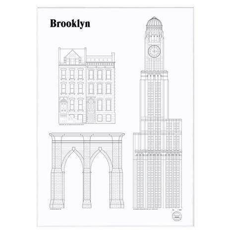 Studio Esinam Landmarks Juliste 50x70 cm Brooklyn