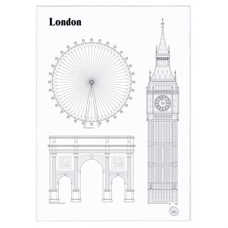 Studio Esinam Landmarks Juliste 50x70 cm London