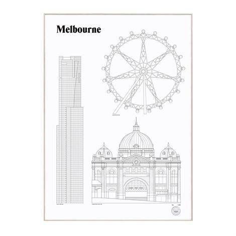 Studio Esinam Landmarks Juliste 50x70 cm Melbourne