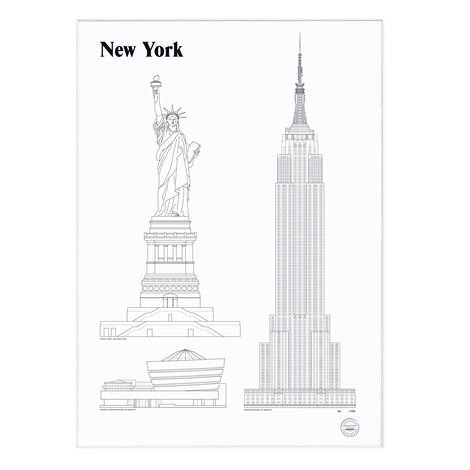 Studio Esinam Landmarks Juliste 50x70 cm New York