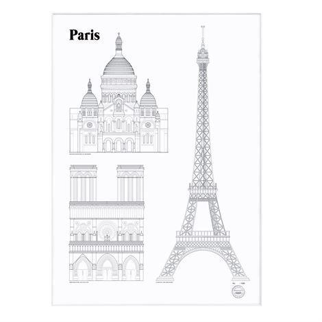 Studio Esinam Landmarks Juliste 50x70 cm Paris
