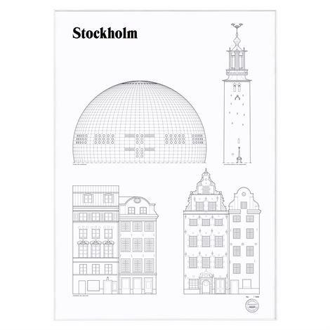 Studio Esinam Landmarks Juliste 50x70 cm Stockholm