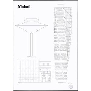 Studio Esinam Malmö Landmarks Juliste
