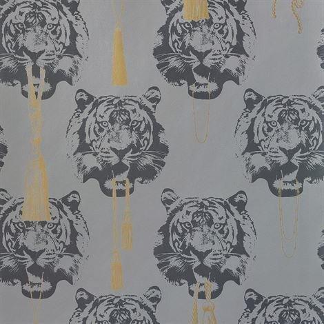 Studio Lisa Bengtsson Coco Tiger Tapetti Harmaa
