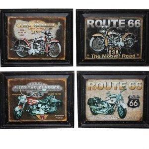 Taulu Antiikkinen Moottoripyörä 38 X 47 Cm