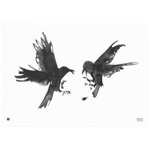 Teemu Järvi Illustrations Kinastelevat Korpit Juliste 100x70 Cm