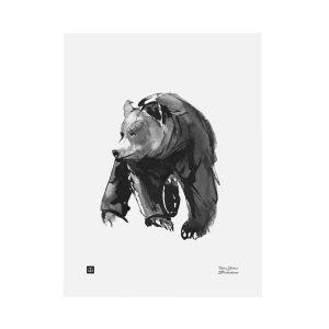 Teemu Järvi Illustrations Lempeä Karhu Juliste 30x40 Cm