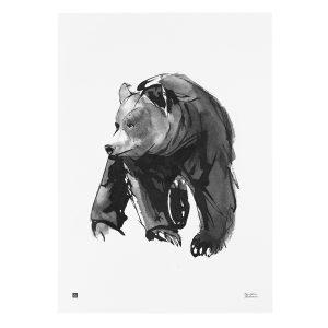 Teemu Järvi Illustrations Lempeä Karhu Juliste 50x70 Cm