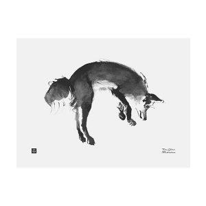Teemu Järvi Illustrations Loikkaava Kettu Juliste 40x30 Cm