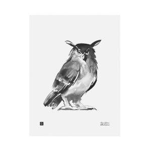 Teemu Järvi Illustrations Pöllö Juliste 30x40 Cm