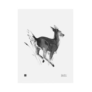 Teemu Järvi Illustrations Valkohäntäpeura Juliste 30x40 Cm