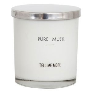 Tell Me More Soy Wax Tuoksukynttilä Pure Musk