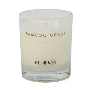Tell Me More Soy Wax Tuoksukynttilä S Bamboo Grass