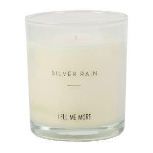 Tell Me More Soy Wax Tuoksukynttilä S Silver Rain