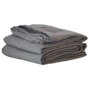Tell Me More Washed Linen Lakana Tummanharmaa 160x270 Cm