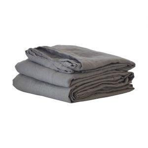 Tell Me More Washed Linen Lakana Tummanharmaa 270x270 Cm