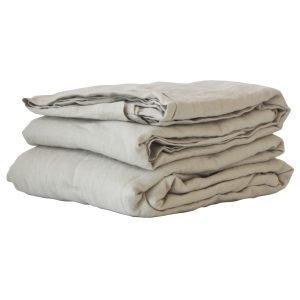 Tell Me More Washed Linen Lakana Warm Grey 160x270 Cm