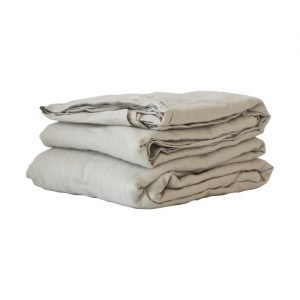Tell Me More Washed Linen Lakana Warm Grey 270x270 Cm