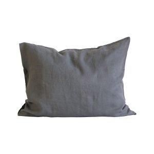 Tell Me More Washed Linen Tyynyliina Dark Grey 50x60 Cm 2 Kpl