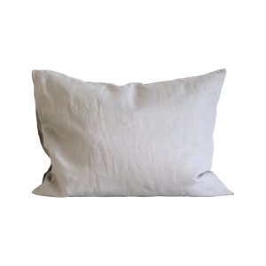 Tell Me More Washed Linen Tyynyliina Light Grey 50x60 Cm 2-Pakkaus