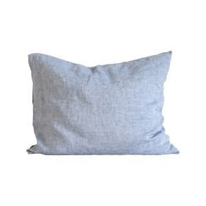 Tell Me More Washed Linen Tyynyliina Woven Light Blue 50x60 Cm 2-Pakkaus