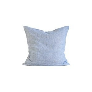 Tell Me More Washed Linen Tyynyliina Woven Light Blue 65x65 Cm