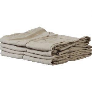 Tell Me More Washed Linen Tyynynpäällinen Sand 50x60 Cm